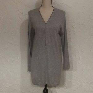Trouve Cashmere Blend Grey Sweater Tunic